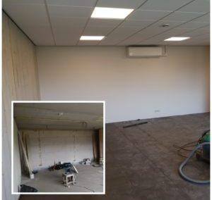 Installatie van bedrijfspand Heiloo (kantoor en werkplaats)